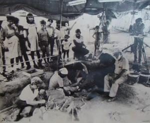Esta foto fue tomada durante las primeras excavaciones de Guarch y su equipo