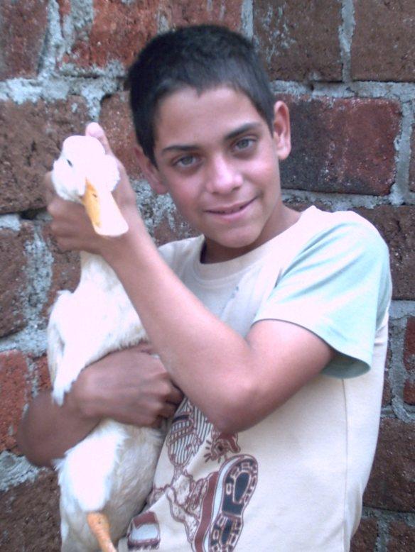 Mi hermano y Chami, los dos en su niñez