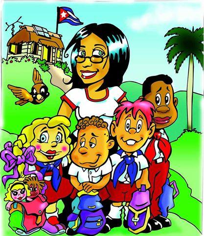 Maestra Esperanza y sus alumnos